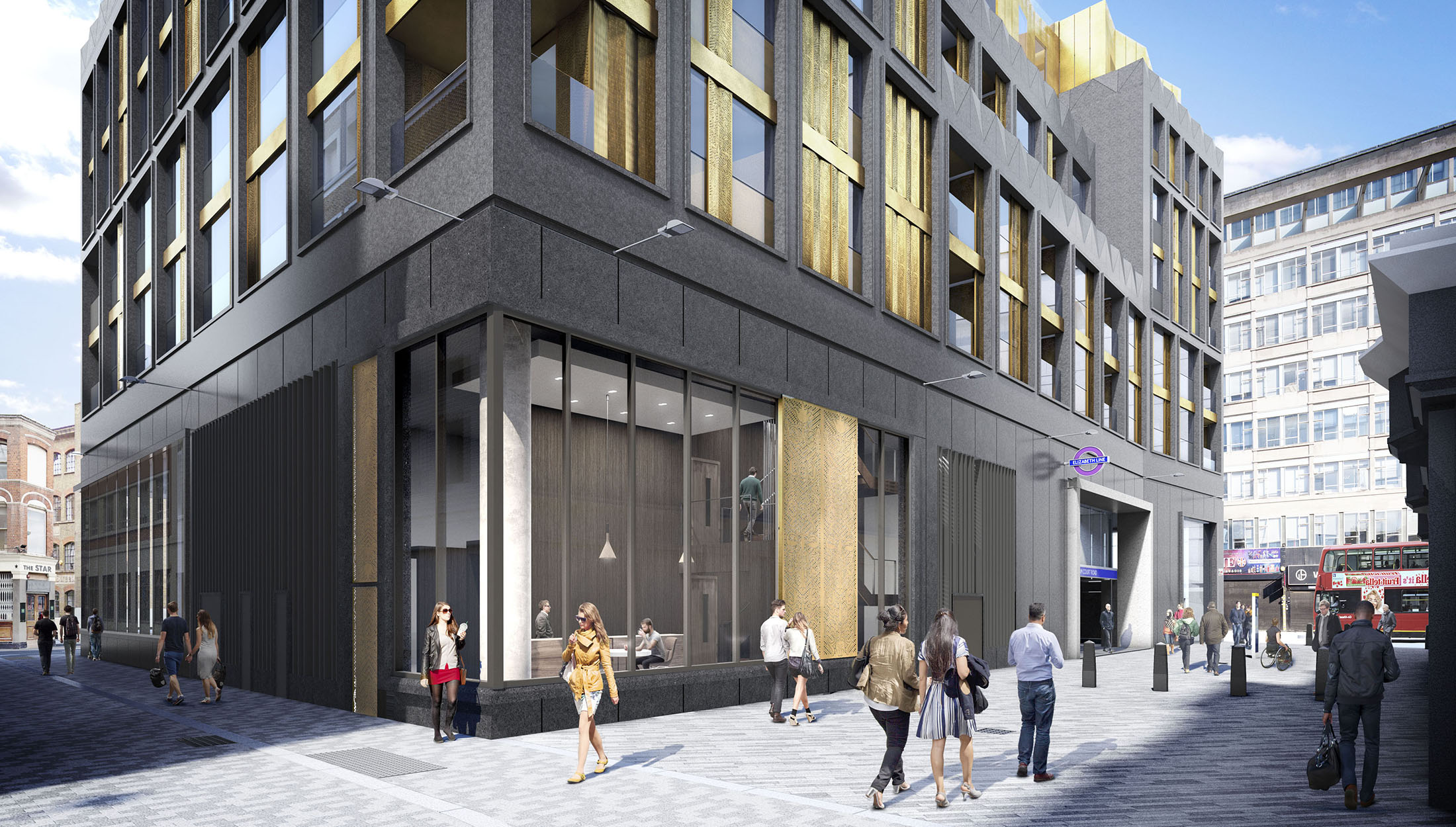 TCRW Soho exterior; computer generated image intended for illustrative purposes only, ©Galliard Homes.