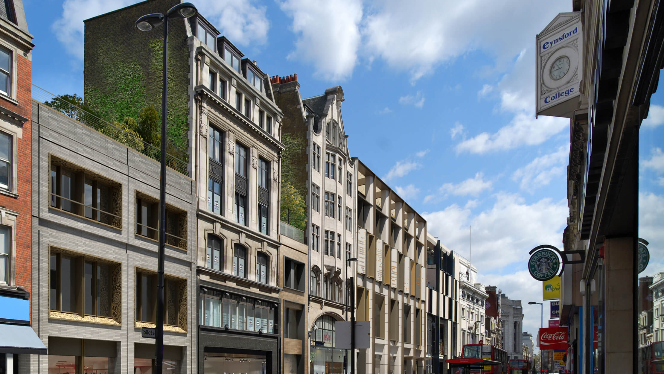 Hanway Gardens exterior, computer generated image intended for illustrative purposes only, ©Galliard Homes.