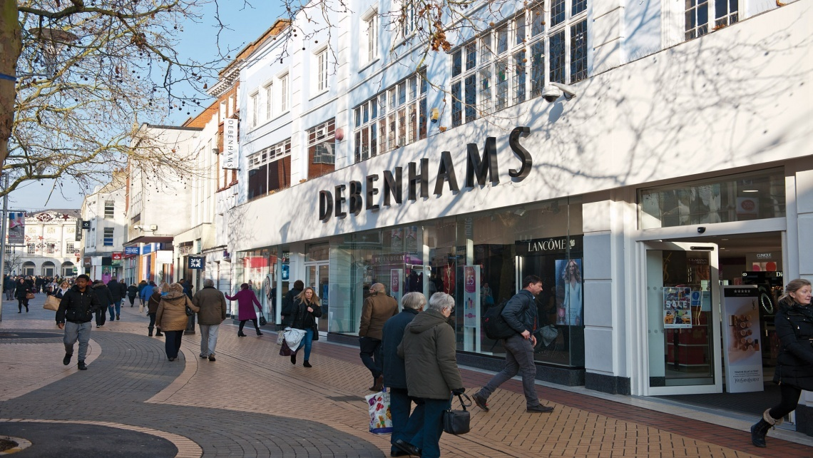Shopping in Chelmsford, Debenhams Department Store
