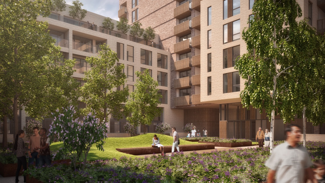 Stadia Three, Wimbledon, Daily Express, Galliard Homes