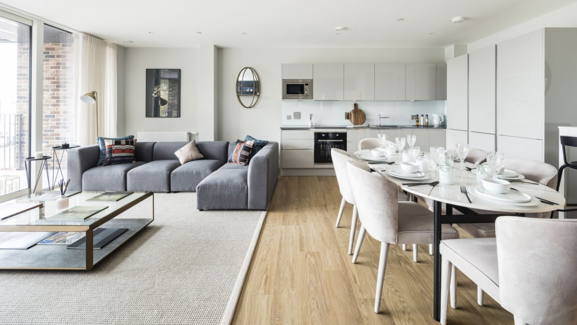 Two bedroom apartment with free Galliard Homes furniture pack at Wimbledon Grounds