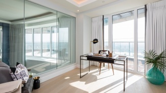 Study Area at a Galliard Homes Penthouse