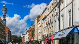Fitzrovia, West End, London, W1, Hanway Gardens, Living in Fitzrovia, Tottenham Court Road