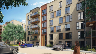 Residents' car park at Silver Works, computer generated image intended for illustrative purposes only, ©Galliard Homes.