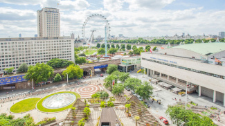 View of South Bank and the London Eye, ©Galliard Homes.