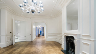 Living room at 42 Belsize Park, ©Galliard Homes.
