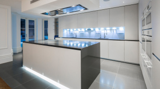 Kitchen at 42 Belsize Park, ©Galliard Homes.