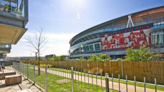Views of the Emirates Stadium, ©Galliard Homes.