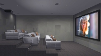 Residents' private screening room at Westgate House, computer generated image intended for illustrative purposes only, ©Galliard Homes.
