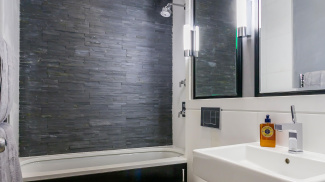 Bathroom in the Great Cumberland Place show apartment, ©Galliard Homes.