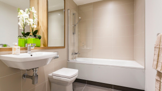 Bathroom at Galliard Homes show apartment, ©Galliard Homes.