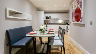 Dining area in a Galliard Homes showroom, ©Galliard Homes.