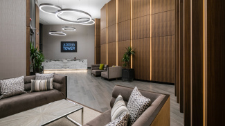 Lobby at Baltimore Tower, ©Galliard Homes.