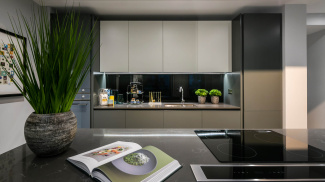 Kitchen area at Hanway Gardens, ©Galliard Homes.