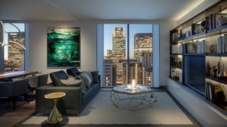 Living area at Harbour Central, computer generated image intended for illustrative purposes only, ©Galliard Homes.