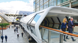 Crossrail Place in Canary Wharf, ©Galliard Homes.