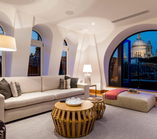 Penthouse apartment with views of St Paul's Cathedral at Ludgate Broadway, ©Galliard Homes.
