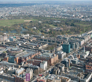 Aerial view of Jerome House and Marylebone, ©Galliard Homes.