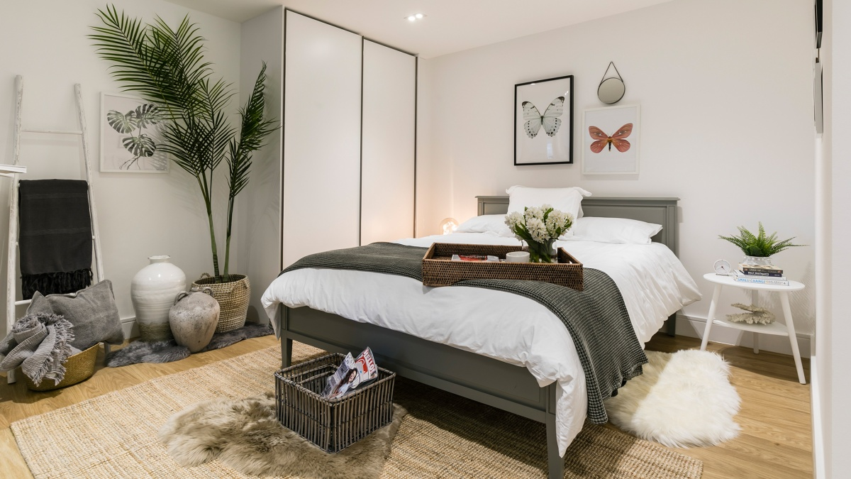 Bedroom at a Galliard Homes apartment, ©Galliard Homes.