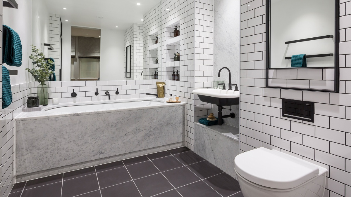 Bathroom at Islington Square, ©Galliard Homes.
