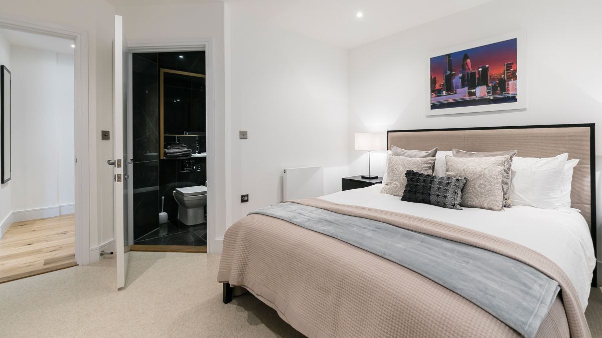 Bedroom at Crescent House, ©Galliard Homes.