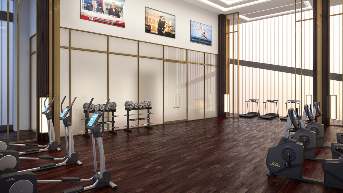 Gymnasium at Harbour Central, computer generated image intended for illustrative purposes only, ©Galliard Homes.