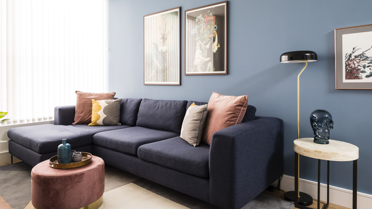 A typical living area at a Galliard Homes show apartment, ©Galliard Homes.