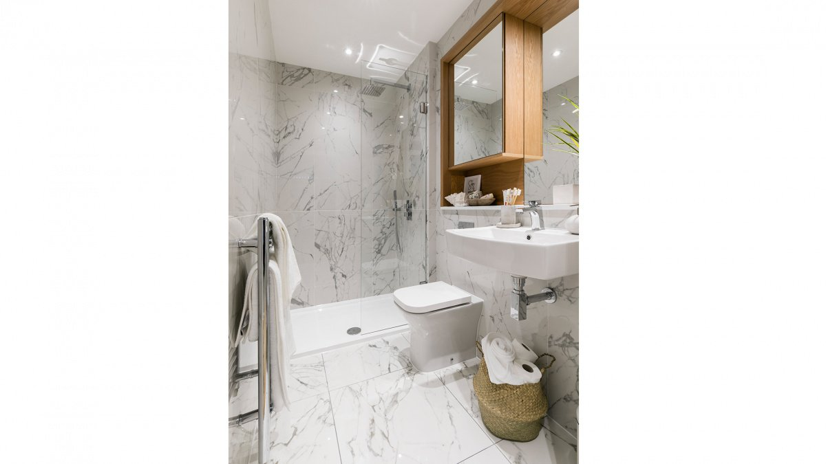 Bathroom at a Galliard Homes apartment, ©Galliard Homes.