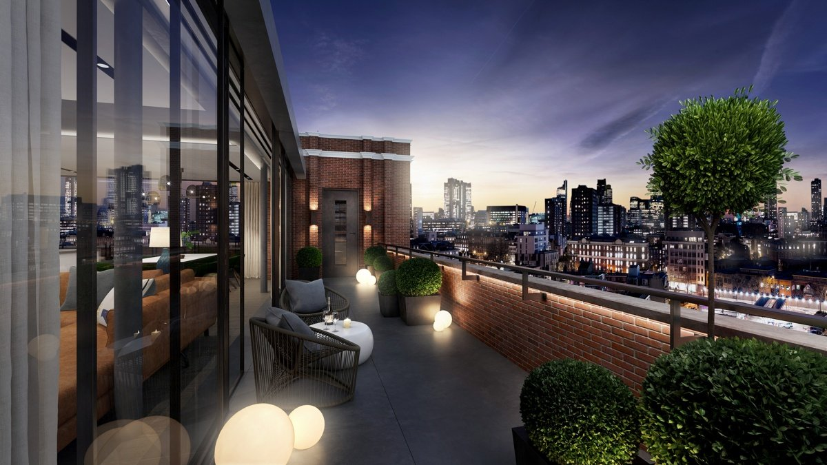 Terrace at Islington Square, ©Galliard Homes.