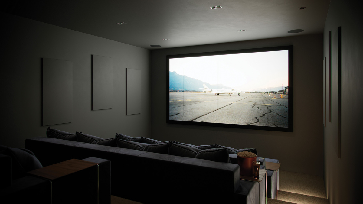 Communal screening room at Westgate House, computer generated image intended for illustrative purposes only, ©Galliard Homes.