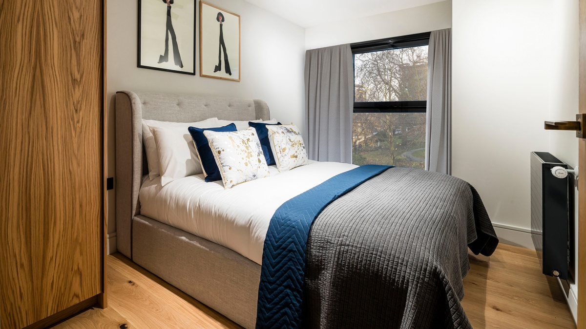 Bedroom at Newham's Yard at Tower Bridge Road; ©Acorn Property Group.
