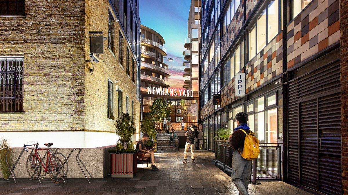 Newham's Yard at Tower Bridge Road exterior; computer generated image intended for illustrative purposes only, ©Acorn Property Group.