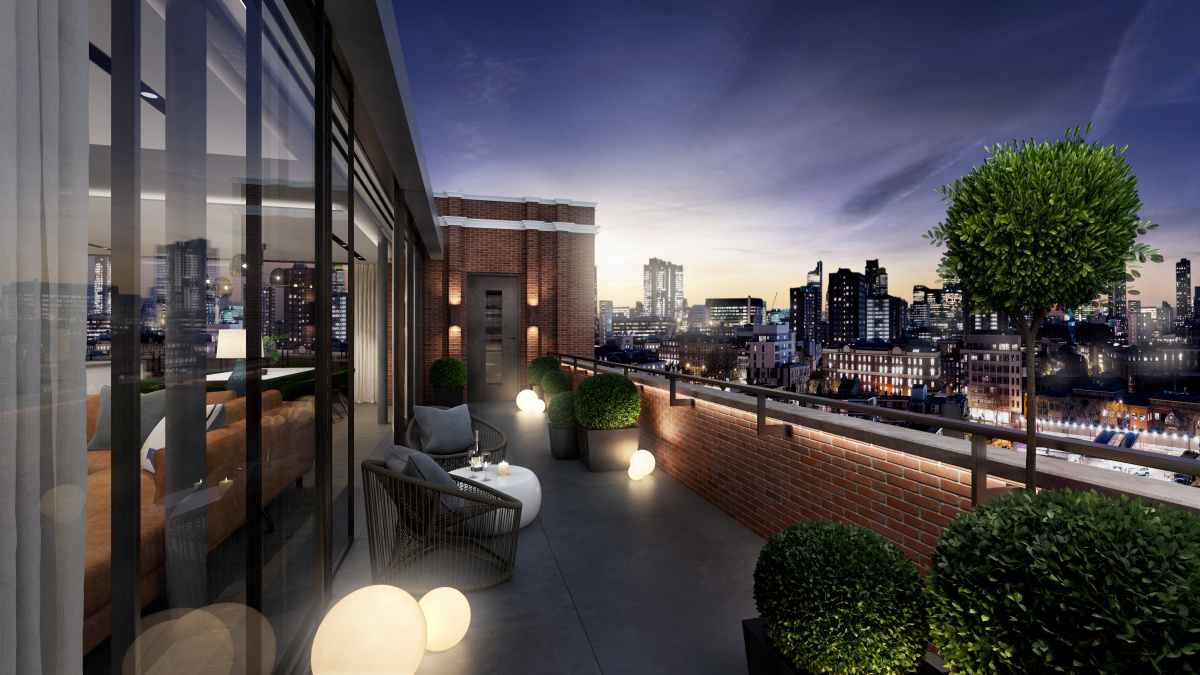 Balcony at Islington Square, ©Galliard Homes..