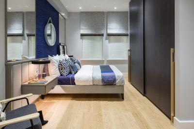 Bedroom at Islington Square, ©Galliard Homes.