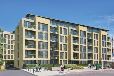 Grove Place exterior, computer generated image intended for illustrative purposes only, ©Galliard Homes.
