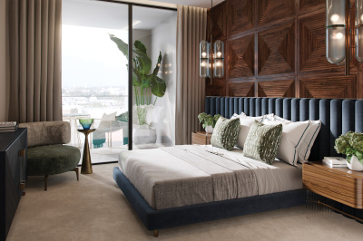 Bedroom at TCRW SOHO; image intended for illustrative purposes only, ©Galliard Homes.