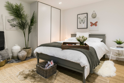 Bedroom area in a Galliard Homes apartment, ©Galliard Homes.