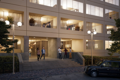 Westgate House exterior, computer generated image intended for illustrative purposes only, ©Galliard Homes.