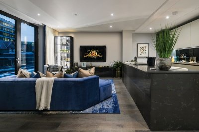 Living area at TCRW; image intended for illustrative purposes only, ©Galliard Homes.